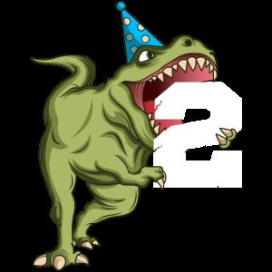 2 Jahre Geburtstag Dinosaurier T Rex Geschenk