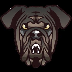 Bulldogge Hundekopf 4 o