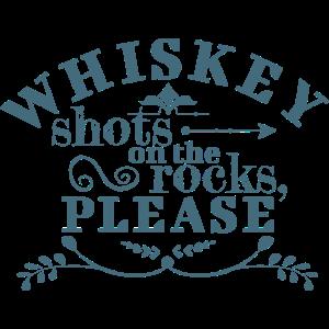 Whisky-Aufnahmen auf den Felsen