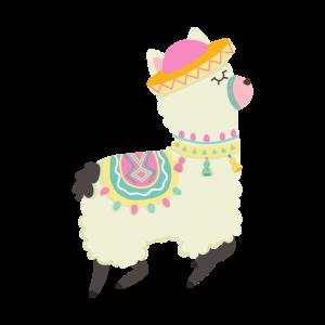Lustiger Alpaka