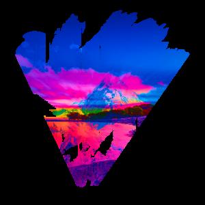 Abstrakte Berglandschaft Dreieck