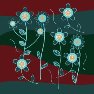 Blumen Ornament Gesichtsmaske (c)