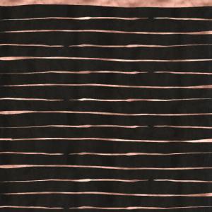 Schwarz Rosegold Striche Muster