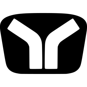 Yugo Logo Black-White Design