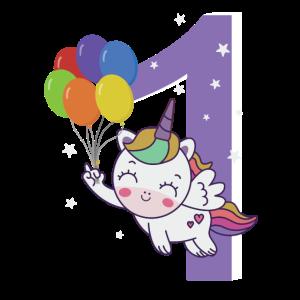 1. Geburtstag Einhorn 1 Jahr Kostüm Geschenk