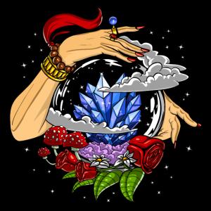 Wahrsagerin Kristallkugel