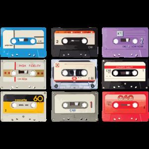 Vintage Stereo Casette Shirt BASF CHROMA Tape