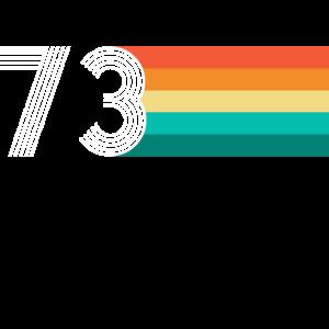 Geburtstag 73 - Vintage RETRO
