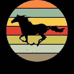 Pferd Retro Motiv Reitsport Reiter Geschenk