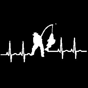 ekg fisch angeln fischen fischer heartbeat angler