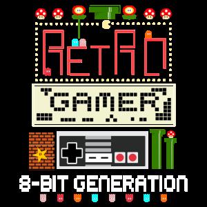 8bit gamer gaming retro pixel games