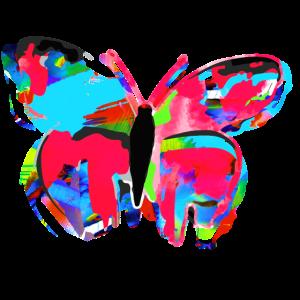 Schmetterling, Aquarell, rot, Malerei, blau