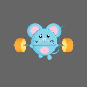 little mouse, mouse, mouse on sports, mouse with barbell