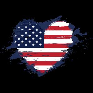 Herz amerikanische Flagge