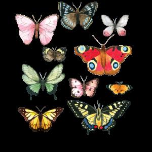 Schmetterlinge Vintage | Retro Butterfly Shirt