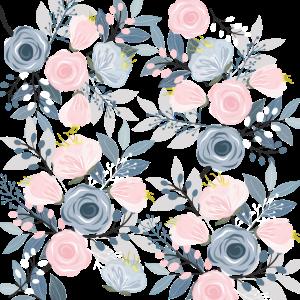 Blumen Muster Mundschutz