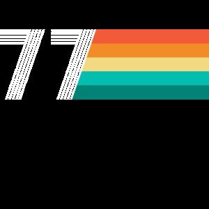 Geburtstag 77 - Vintage RETRO