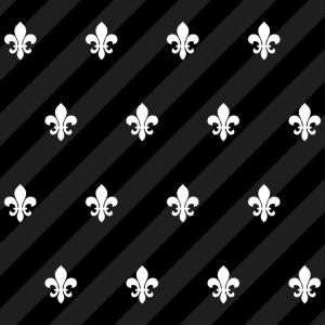 Fleur de Lys / Fleur de Lis Schwarz-Weiß Muster