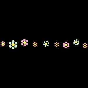 Blumen Linie Muster Dekoration Dekor