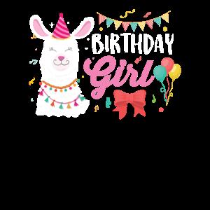 Llama Girl Geburtstag Llama Süßes Lama