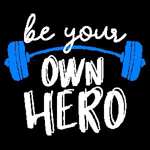 Sei dein eigener Held weiß-weiß