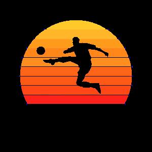 Fußball Sonnenuntergang Design für Fußballer
