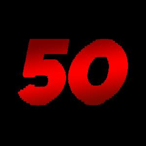50 - 50. Geburtstag