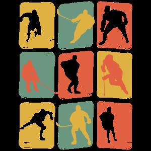 Eishockey Hockeyspieler Vintage Retro