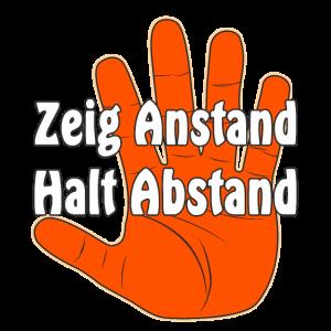 Hand Stop Zeig Anstand Halt Abstand