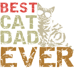 Best Cat Dad Ever T Shirt Funny Cat Daddy