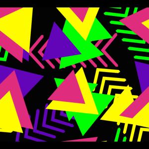 80er 90er neon Design