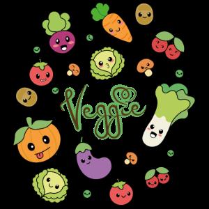 Kawaii Doodle - Veggie
