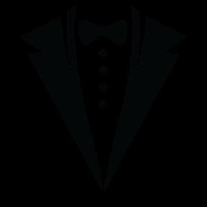 Anzug mit Fliege geschenk elegant lustig schwarz