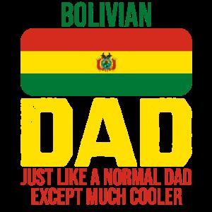 Bolivianischer Vater Bolivien Flagge zum Vatertag
