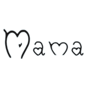 ♥ Mama in Herzschrift ♥