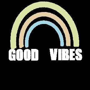Good vibes Retro Statement Vintage Pastellfarben