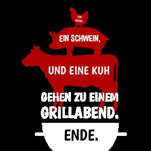 Grillen Witz Huhn Schwein Kuh Grillabend