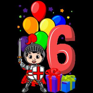 Ritter Geburtstagsshirt 6 Jahre Junge Geburtstag