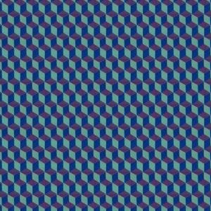 Blaue Würfel, Muster