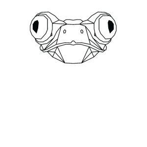 Agalychnis lemur Polygon Stil (Hell)
