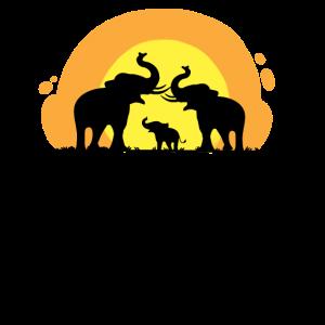 Elefantenfamilie Geschenkprodukt Elefanten Wildlife