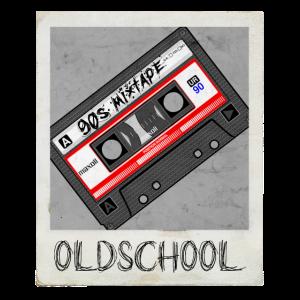 kassette oldschool 90s Retro Design Polaroid
