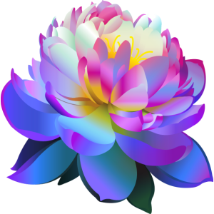 Schöne blaue Lotusblume