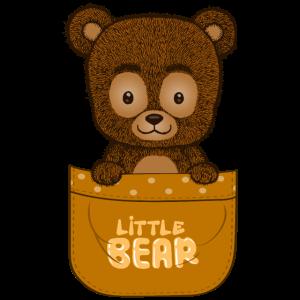 Kleiner Bär in einer Tasche