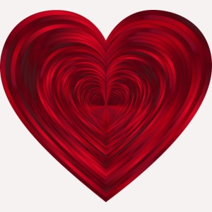 Love Heart Print T-shirt design
