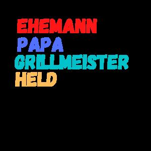 Ehemann Papa Grillmeister Held Vatertag Geschenk