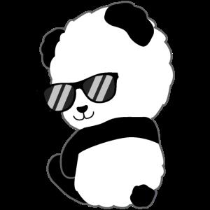 Niedlicher Panda Sonnenbrille Geschenk Pandabär
