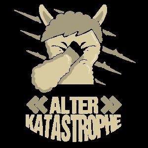 Alter Katastrophe Lama Alpaka Lustiger Spruch