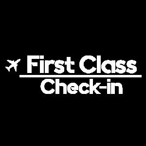 Erstklassiger Check-in