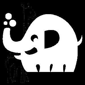 Elefant Seifenblasen